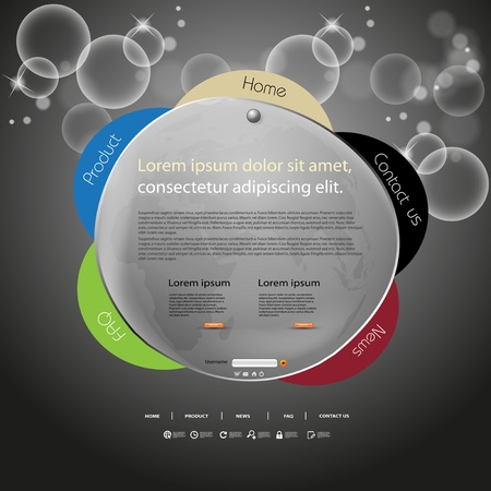 web site: Abstract web site design color template