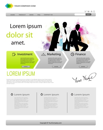 Business template web site Stock Vector - 13375933