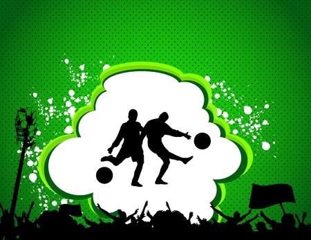 football match: partita di calcio manifesto