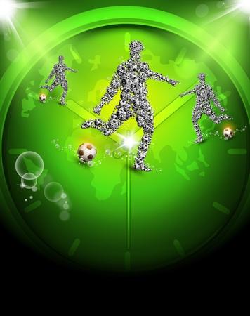 football world championship football, easy editable Vector