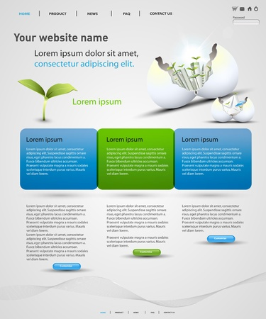 company profile: web design vector template, easy editable