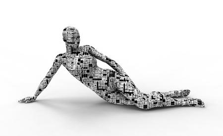 Technology woman body