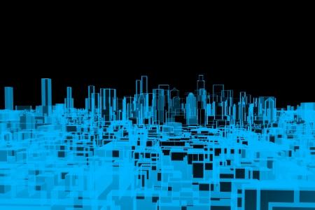 City, xray transparent  photo
