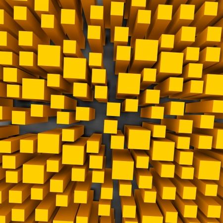 infinitely: color 3d cubes