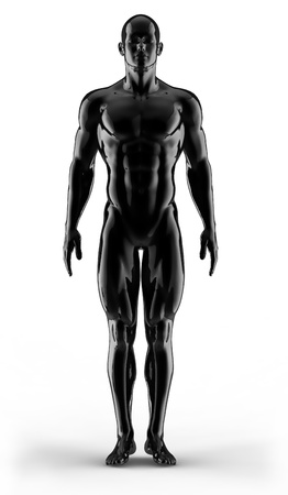 3d render portrait bodybuilder