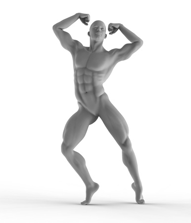 athletic man, statue design photo