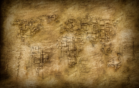 oversea: Grunge world old map