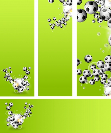 Background or card with soccer balls Vector