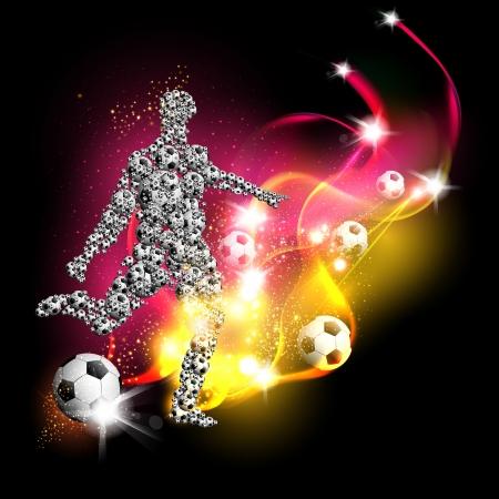 fondo de arte del fútbol