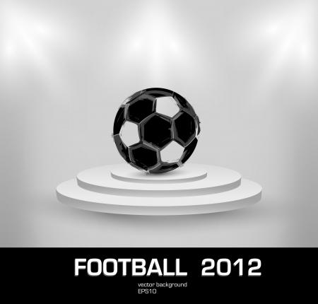 football grunge light ball Vector