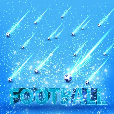 football grunge light stage card Vector