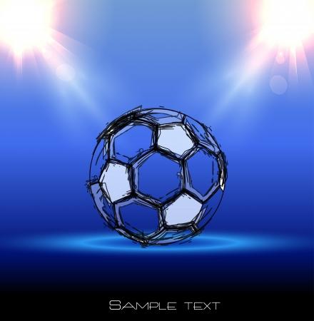 de fútbol del grunge anunciante con una pelota