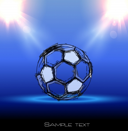 football grunge poster with a ball Illustration