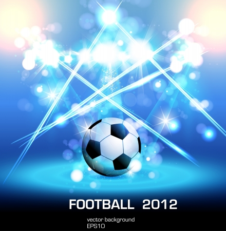 football light poster Vector