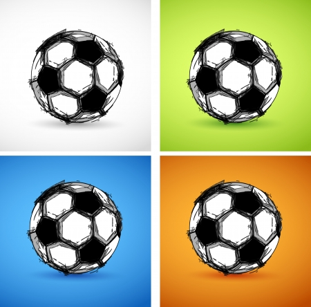 Soccer ball color set Vector
