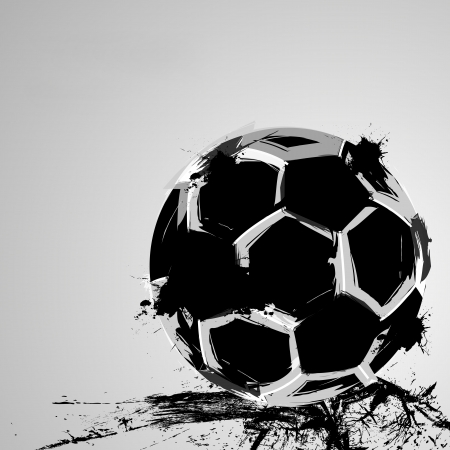 Soccer grunge ball  Ilustrace