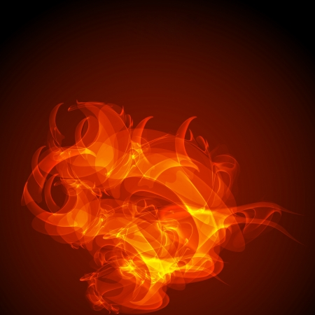 Abstract virtual fire space background, Eps 10 Vector