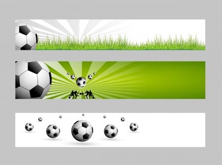 web header: banderas de f�tbol web Vectores