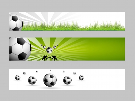 football web banners  Vector