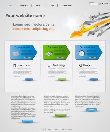 webdesign vector concept, gemakkelijk bewerkbaar Stock Illustratie