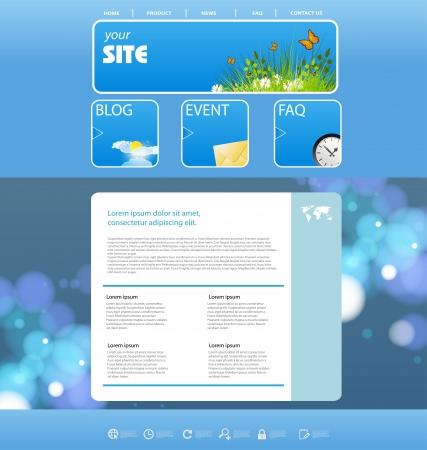 corporative: website vector design template, nature design