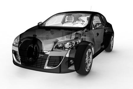 3d model cars Reklamní fotografie - 14397225