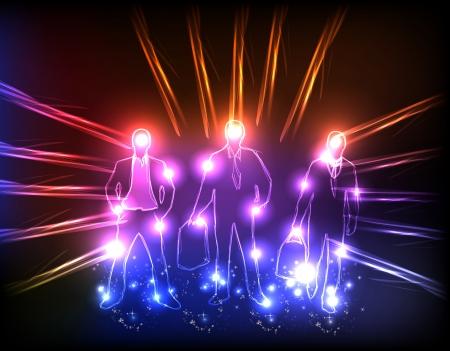 lucero: equipo de negocios de luz de fondo