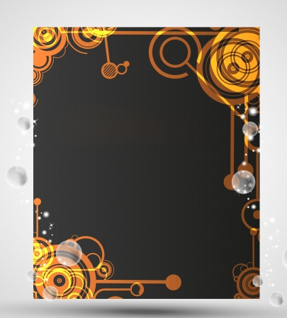 glossiness: Card with circle pattern Illustration