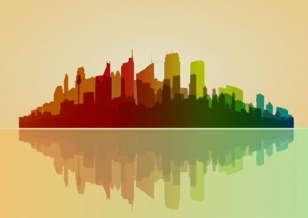 Colorful city vector background  Vector