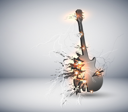 Music Guitar explisive background, easy editable Reklamní fotografie - 14397257
