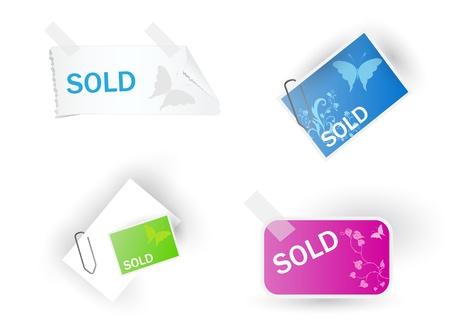 flex: Color modern sale tags