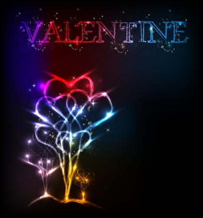 Heart valentine background light design Stock Vector - 14828442