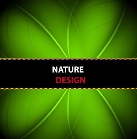 nature banner background design Illustration