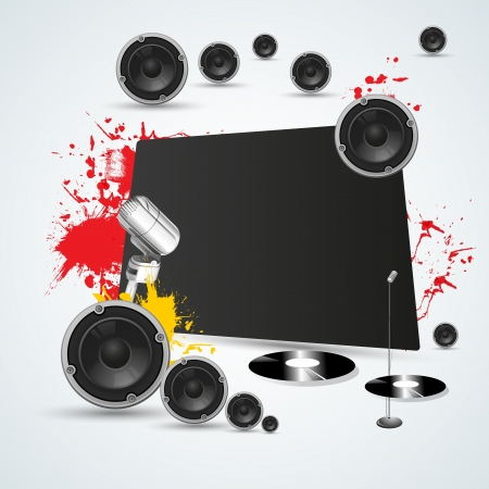 colorful music background illustration  Vector