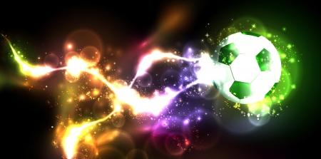 neon banner voetbal Stock Illustratie