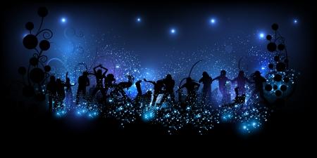 Party achtergrond illustratie