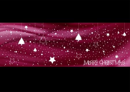Abstracte paarse Vrolijk kerstfeest achtergrond, EPS 10 Stock Illustratie