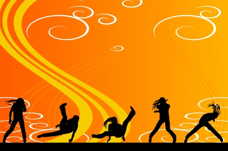 partying: Party dancing people web banner  Illustration