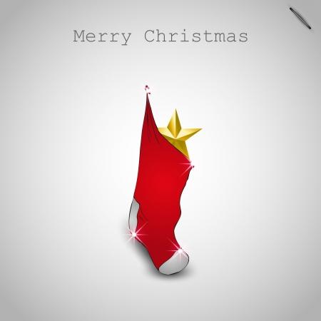 upscale: Sock, Merry Christmas design Illustration