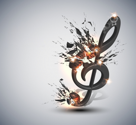 Music Note Melody Background Stock Vector - 16041166