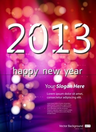 2013 New Year Template Vector