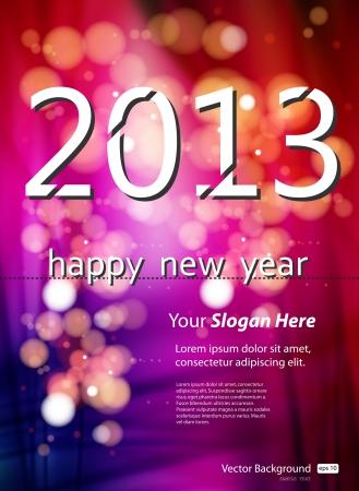 2013 Nieuw jaar sjabloon
