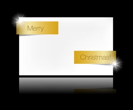 Christmas ribbon banner