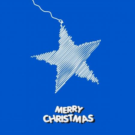 Kerst ster illustratie Stock Illustratie