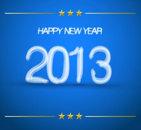 creative happy new year 2013 Stock Vector - 16434783