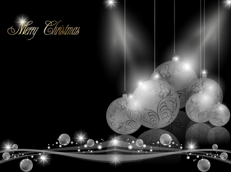 Elegante donkere Kerst achtergrond Stock Illustratie