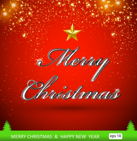 Merry Christmas illustration, greeting card