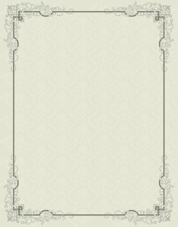 Vintage frame on seamless background Vector