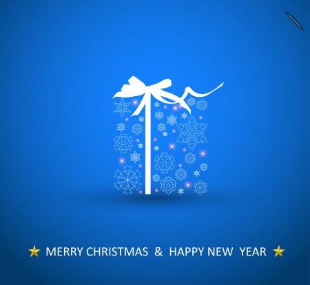 Christmas Box, snowflake design Vector
