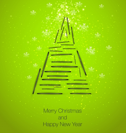 Christmas tree, easy editable Vector